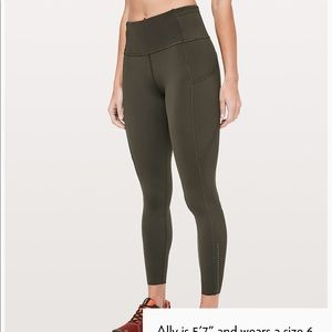 "Lululemon Fast & Free 7/8 Tight II Nulux 25"" US4"